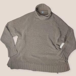 Aerie Oversized Chenile Turtleneck Sweater XLarge